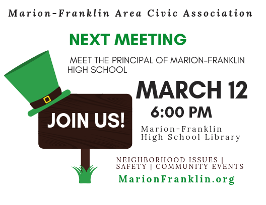 March Civic Association Meeting Notice