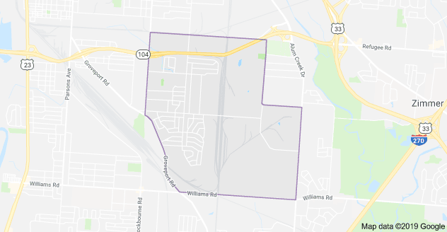 Marion-Franklin Area Map