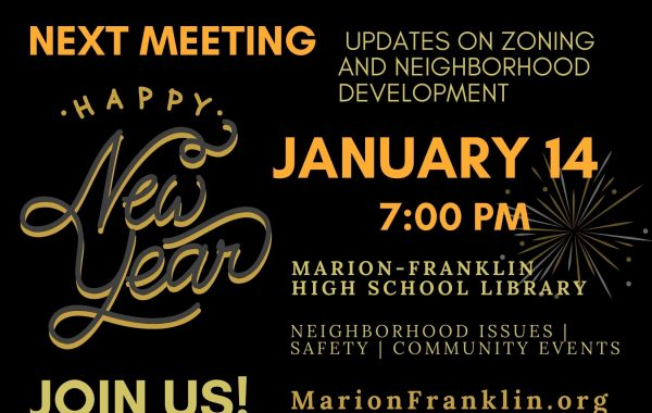 January Civic Association Meeting Notice